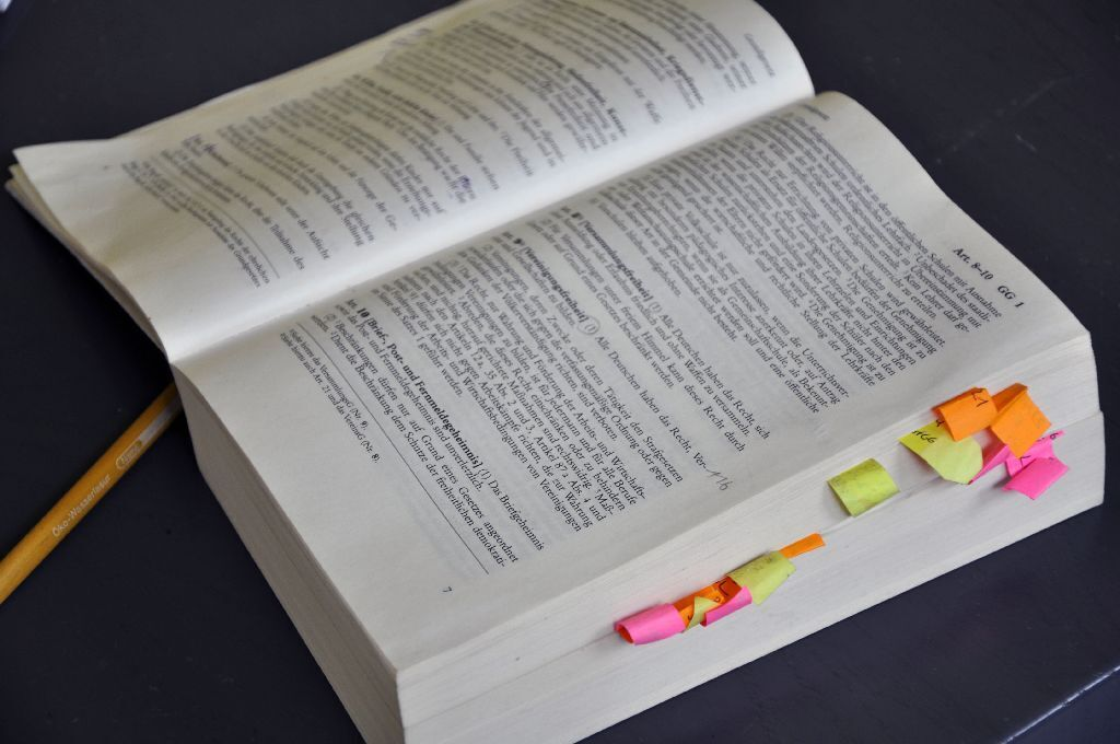 books with post its